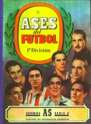 STICKER FACSIMIL CROMOS AS SAMMEL ALBUM ASES DEL FUTBOL 1944 1945 BRUGUERA...