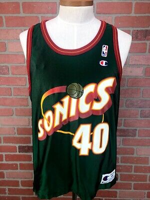 Vtg Shawn Kemp Seattle Supersonics Champion Reversible NBA Basketball Jersey 44