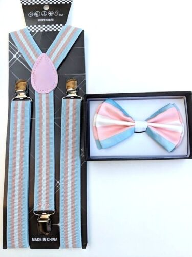 New Transgender Rainbow Suspenders And Bow Tie Combo Set Lgbt Gay Trans