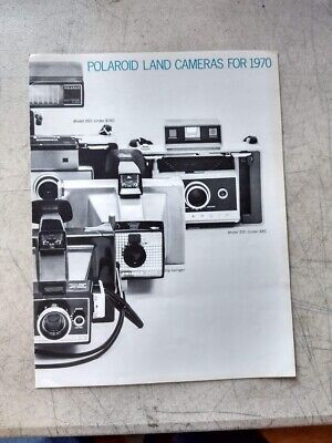 Polaroid Land Cameras for 1970 pamphlet sales (Polaroid For Sale)