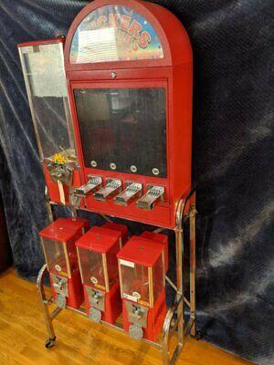 Bulk Candy/Toy & Tattoo/Sticker Vending Machine on Rack