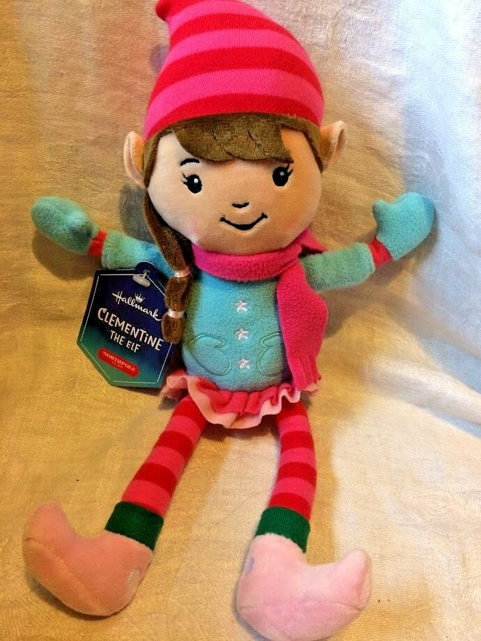 "Hallmark Clementine Elf 12"" Plush North Pole Stuffed Doll Toy Christmas"