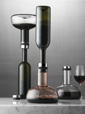 Menu Wine Breather Decanter Smoke/Brass