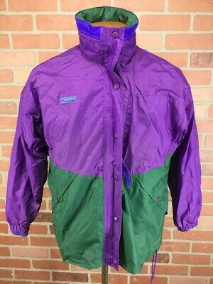 Vintage Columbia Womens Convertible Lined Hidden Hood Ski Jacket Size -