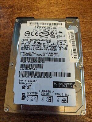 WD Travelstar 80 GB ATA-100 4200 RPM IC25N080ATMR04 Laptop Hard Drive used Ibm Laptop Ata Hard Drives