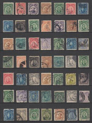 (GS477) PHILIPPINES - USA.  OLD DEFINITIVE STAMPS ON STOCKPAGE. USED