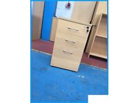 3 draw desk high pedestal units 730mm high x 440mm wide x 600mm deep