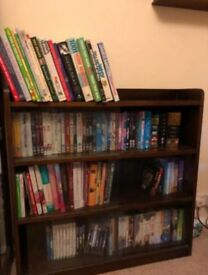Wood and glass bookcase
