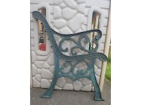Cast iron bench ends ideal for bench makers or someone wanting a garden project