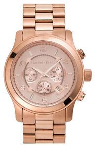 New-Michael-Kors-MK8096-Rose-Gold-Tone-Chronograph-Mens-Watch