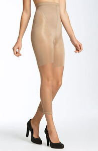 SPANX #912 In-Power Line High-Waisted Footless Body Shaping Pantyhose Nude B