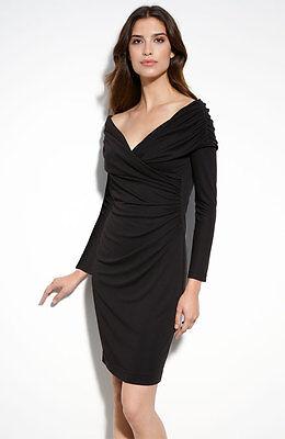 St. John Collection Matte Jersey Off Shoulder Dress ( Size 2)