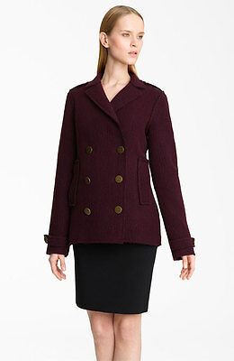 Authentic Lanvin Double Breasted Peacoat Women's Coat Jacket Size 42 -10 $2550