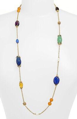 $88 Ralph Lauren Gold Tone LADYLIKE Multi Bead Illusion Long Necklace