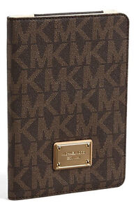 NEW MICHAEL Michael Kors Signature iPad Mini Case/Folio in Brown *Rare