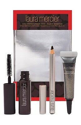 NEW LAURA MERCIER Eye Transformer Trio BLACK DIAMOND Mascara Glace Eye Pencil