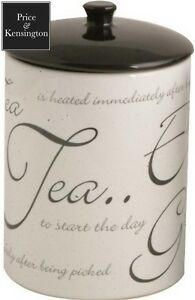 Price and Kensington Script Tea Jar, White