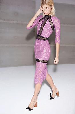 New Alexis Marisa Lace Dress In Purple Authentic Cocktail Wedding Graduation