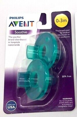 Philips Avent Super Soothie Pacifier - 0-3 Months - BPA Free Lot of 3 (Total 6)