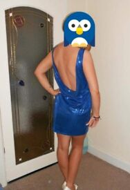 Lipsy sparkly blue dress. Free postage