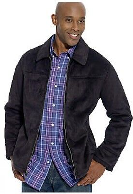 Chaps ~ Microsuede Sherpa-Lined Jacket Men's L $200 NWT Lined Microsuede Jacket