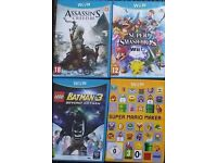 4 Wii U Games inc Smash Bros & Mario Maker