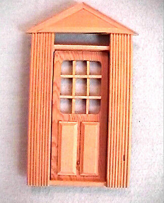 NEW 4 DOLLHOUSE DOORS Solid Wood Panelled- Opening W/ Windows NEW /Boxes  - $10.99