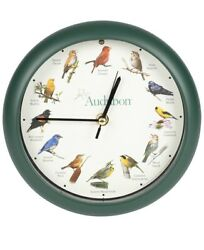 Audubon SINGING BIRD CLOCK w/ Wild Birds Songs 8 - Mark Feldstein - NEW