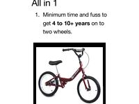 Children Bike 4 to 8 years fast learning 3in1 bike