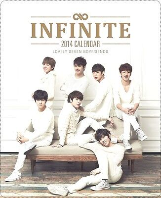 Rare Infinite 2014 Greeting Official Desk Calendar+Scheduler+Making DVD destiny