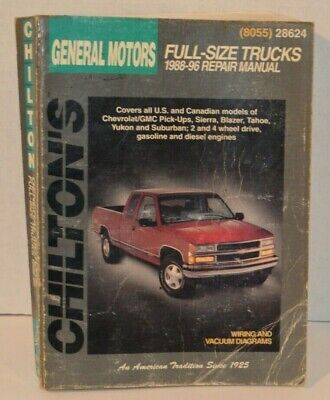 1996 General Motors - Chilton's General Motors Full Size Trucks 1988-1996 Repair Manual 28624 (8055)