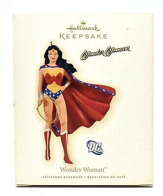 RARE NEW 2009 HALLMARK WONDER WOMAN DC COMICS CHRISTMAS ORNAMENT - VERY SCARCE