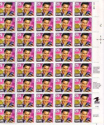 #2721  29c ELVIS COMMEMORATIVE  PANE OF 40  POSTAGE STAMPS BELOW FACE VALUE