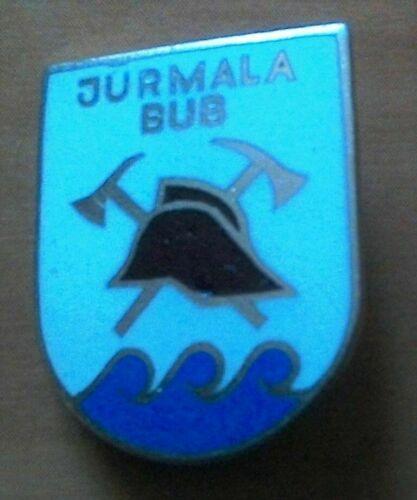 Badge. Volunteer Fire Brigade.Soviet Latvia. Jurmala.