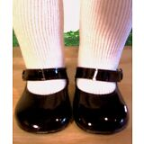 "BLACK PATENT SHOES Fits 18"" American Girl Doll, 18 Inch Dolls"