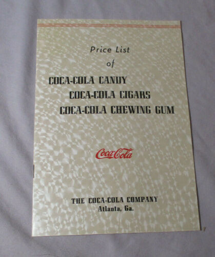Original 1940 COCA-COLA STORE EMPLOYEE Price List CANDY CIGARS CHEWING GUM #1555