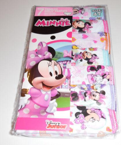 Disney Minnie Mouse Undies Cotton Underwear 7 Panty Girls Toddler Size 4T NIP