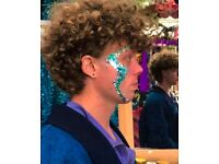 Glitter and face painting artist