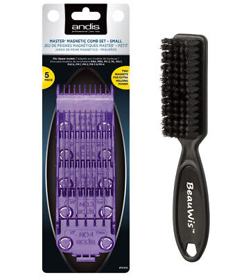 Andis Master Dual Magnet 5-Comb Set with a BeauWis Blade Brush