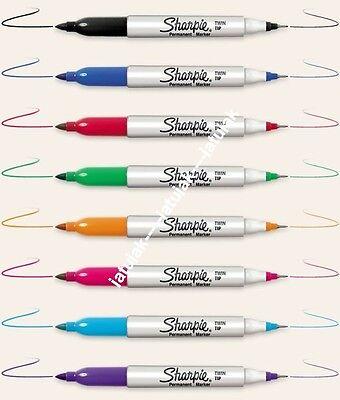 Sharpie Permanent Marker Twin Tip Fine Ultra-fine Assorted