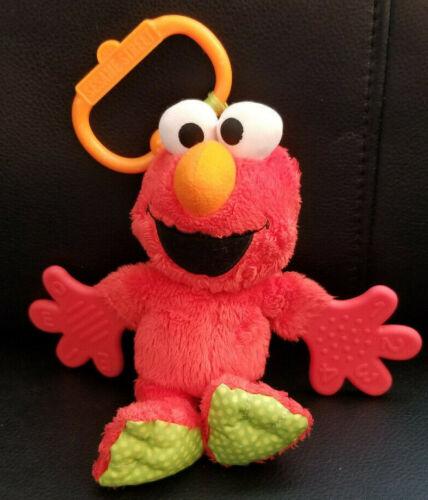 Sesame Street Elmo Plush Teether/Crinkle/Rattle Baby Crib/Car Seat Stroller Toy