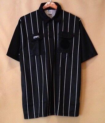 716745722 Soccer Referee Short Sleeves Black Jersey