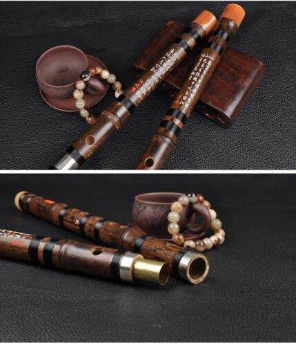 Master Made Chinese Musical Instrument Purple Bamboo Flute Dizi Concert Grade