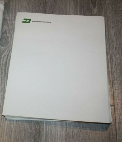 Vintage Burlington Northern Railroad Letterhead Paper  ( Approx 100 sheets)