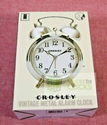Crosley- Analog Alarm Clock Silver