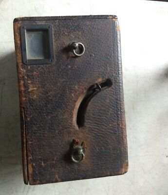 "Antique leather covered box camera ADLAKE Westlake 4x5""  & 11 plate holders 1897 for sale  Shipping to India"