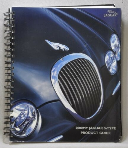 Jaguar 2000 S-Type Product Guide spiral Bound Excellent