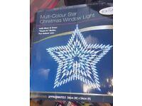 Large Star Christmas XMAS Window light 54cm x 54cm