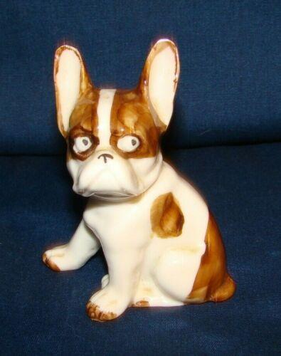 Vintage German China French Bulldog Dog Figurine