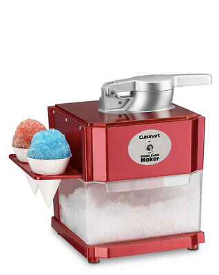 Cuisinart Snow Cone Maker Red - Brand New Never Removed From Box-free Ship